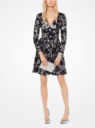 MICHAEL Michael Kors Floral Sequined Dress