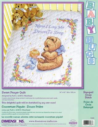 """Dimensions Baby Hugs Sweet Prayer Quilt Stamped Cross Stitch Kit-34""""X43"""""""