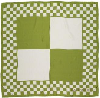 Louis Vuitton Green Silk Scarves