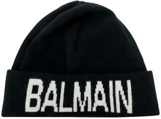 Balmain logo beanie
