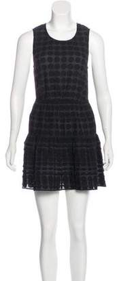 Karen Walker Plissé Patterned Dress