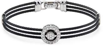 Alor 18K White Gold, Stainless Steel & Diamond Multi-Strand Bracelet