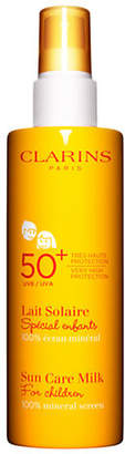 Clarins Sun Care Milk For Children UVA UVB 50plus 100 Percent mineral screen