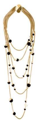 Christian Dior Bead Five Strand Necklace Gold Bead Five Strand Necklace