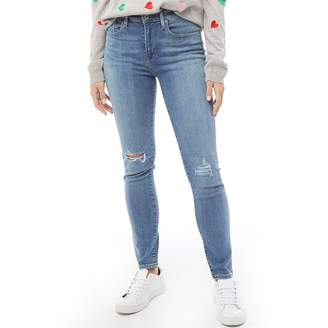 Levi's Womens 721 High Rise Skinny Jeans Lucky Blue