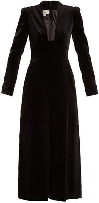 Temperley London Opus cotton-blend velvet jumpsuit