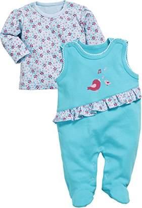 Playshoes Baby Girls' Set Vögelchen Romper,(Manufacturer Size: 56)