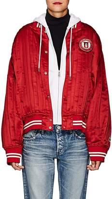 Undercover Women's Patch-Appliquéd Silk Satin Varsity Jacket