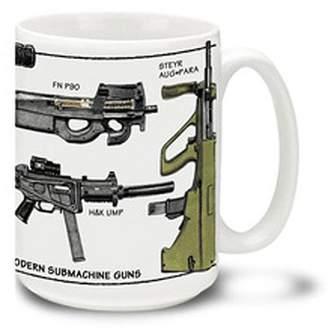 Cuppa 15-Ounce Coffee Mug with Modern SMGs