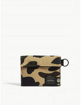 A Bathing Ape Yellow Camo Porter 1st Wallet