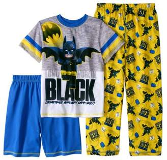 Lego Batman Batman Boy's 'Work in Black' 3 Piece Pajama Sleep Set (Big Boys & Little Boys)