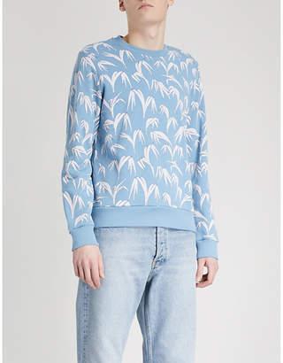 Sandro Palm leaf-print cotton-jersey sweatshirt