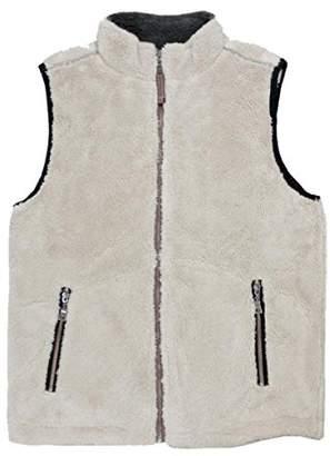 True Grit Men's Pebble Pile Double up Vest with Zip Pockets