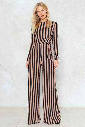 Nasty Gal Stripe You Are Ribbed Jumpsuit
