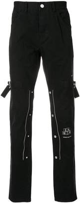 C2h4 zip detail straight jeans