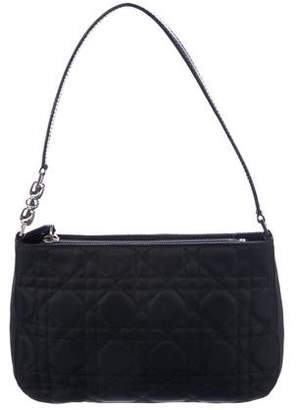 Christian Dior Leather-Trimmed Cannage Shoulder Bag