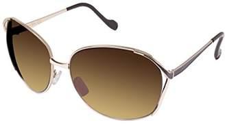 Jessica Simpson Women's J5255 Gdbrn Oval Sunglasses