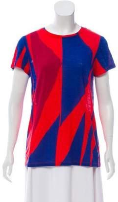 Proenza Schouler Abstract Short Sleeve Top