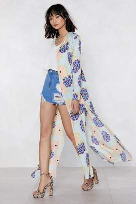Nasty Gal The Flower of Love Floral Kimono