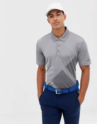 adidas Bold Logo Polo In Gray