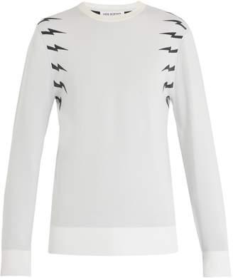 Neil Barrett Lightning bolt intarsia sweater