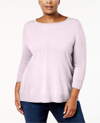 Karen Scott Plus Size Luxsoft Sweater