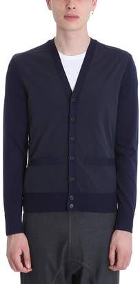 Neil Barrett Blue Viscose V-neck Cardigan