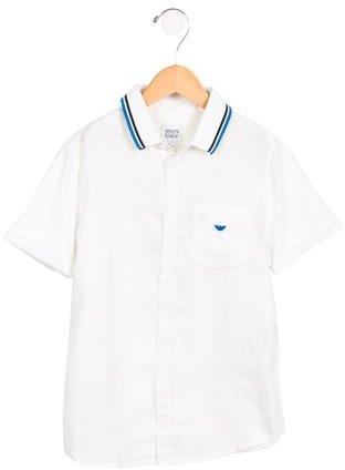 Armani JuniorArmani Junior Boys' Linen Button-Up Shirt w/ Tags