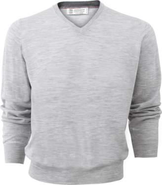 Brunello Cucinelli V-Neck Fine Gauge Sweater