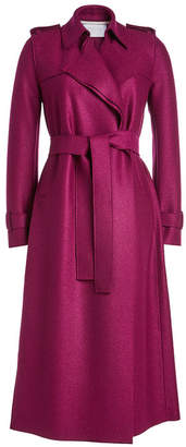 Harris Wharf London Virgin Wool Trench Coat