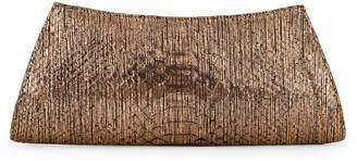 Nancy Gonzalez Python Leather Clutch