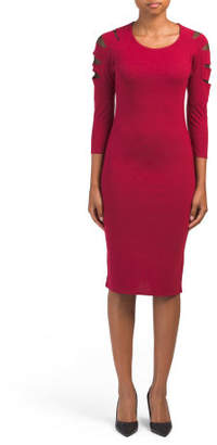 Juniors Midi Dress With Mesh