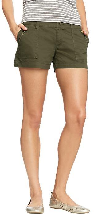 "Old Navy Women's Zip-Pocket Twill Shorts (3 1/2"")"