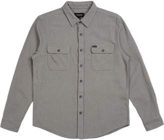Brixton Bowery Solid Long-Sleeve Flannel - Men's