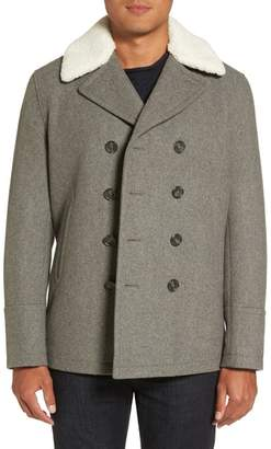 Michael Kors Peacoat with Faux Shearling Collar