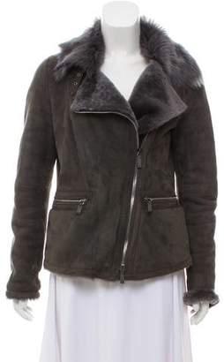 Giorgio Armani Asymmetrical Suede Jacket