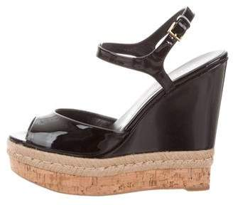 dccca0e11a8999 Pre-Owned at TheRealReal · Gucci Patent Leather Wedges