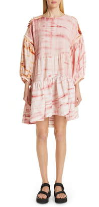 story. mfg. Verity Tie Dye Drop Waist Dress