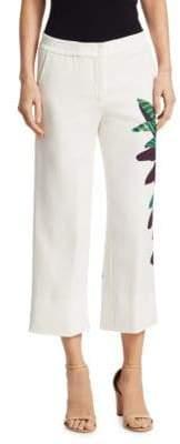 Akris Punto Cropped Tropical Print Pants