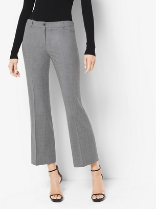 Michael Kors Stretch-Wool Cropped Pants