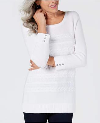 Karen Scott Crewneck Sweater, Created for Macy's