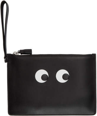 Anya Hindmarch Black Eyes Zip Top Pouch