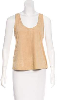 Drome Sleeveless Suede Top