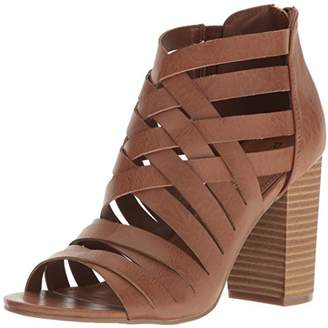 57acc0b91ef Rampage Women s Tariah Caged Strappy High Heel Stacked Sandal