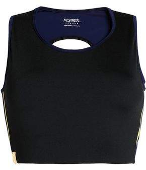 Monreal London Cropped Cutout Stretch Top