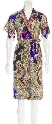 Just Cavalli Midi Wrap Dress