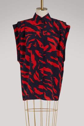 Givenchy Tiger sleeveless blouse