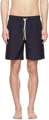 Saturdays NYC Navy Timothy Swim Shorts $85 thestylecure.com