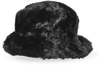 Nine West Faux Fur Reversible Bucket Hat