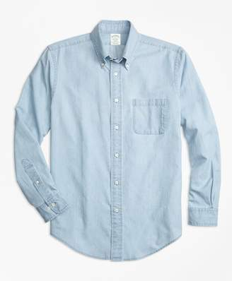 Brooks Brothers Milano Fit Indigo Chambray Sport Shirt